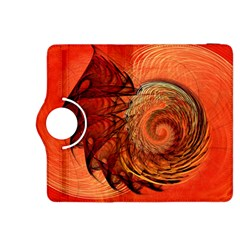 Nautilus Shell Abstract Fractal Kindle Fire Hdx 8 9  Flip 360 Case by designworld65