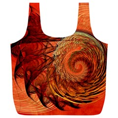 Nautilus Shell Abstract Fractal Full Print Recycle Bags (l)  by designworld65