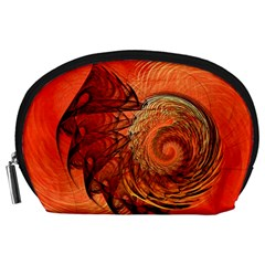 Nautilus Shell Abstract Fractal Accessory Pouches (large)  by designworld65