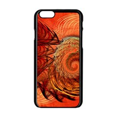Nautilus Shell Abstract Fractal Apple Iphone 6/6s Black Enamel Case by designworld65