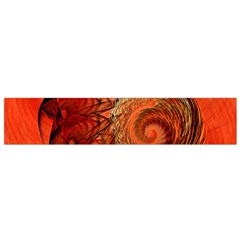 Nautilus Shell Abstract Fractal Flano Scarf (small) by designworld65