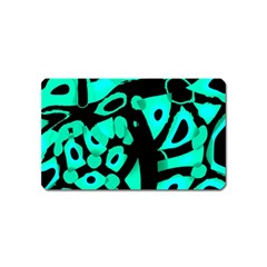Cyan design Magnet (Name Card) by Valentinaart