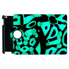 Cyan Design Apple Ipad 2 Flip 360 Case by Valentinaart