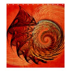 Nautilus Shell Abstract Fractal Shower Curtain 66  X 72  (large)  by designworld65