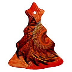 Nautilus Shell Abstract Fractal Christmas Tree Ornament (2 Sides) by designworld65