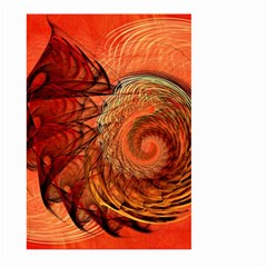 Nautilus Shell Abstract Fractal Large Garden Flag (two Sides) by designworld65