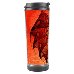 Nautilus Shell Abstract Fractal Travel Tumbler by designworld65