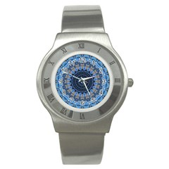 Feel Blue Mandala Stainless Steel Watch by designworld65