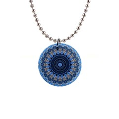 Feel Blue Mandala Button Necklaces by designworld65