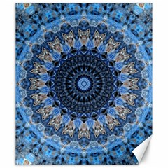 Feel Blue Mandala Canvas 20  X 24   by designworld65