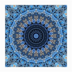 Feel Blue Mandala Medium Glasses Cloth (2 Side) by designworld65