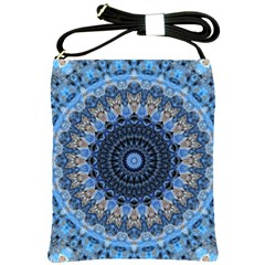 Feel Blue Mandala Shoulder Sling Bags by designworld65