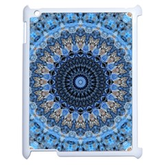 Feel Blue Mandala Apple Ipad 2 Case (white) by designworld65