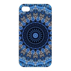 Feel Blue Mandala Apple Iphone 4/4s Hardshell Case by designworld65