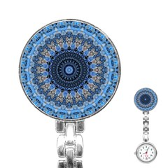 Feel Blue Mandala Stainless Steel Nurses Watch by designworld65