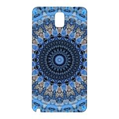 Feel Blue Mandala Samsung Galaxy Note 3 N9005 Hardshell Back Case by designworld65