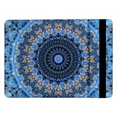 Feel Blue Mandala Samsung Galaxy Tab Pro 12 2  Flip Case by designworld65