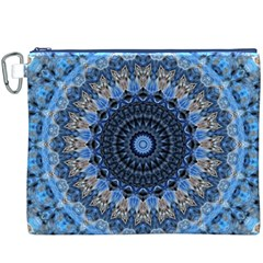 Feel Blue Mandala Canvas Cosmetic Bag (xxxl) by designworld65