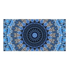 Feel Blue Mandala Satin Shawl by designworld65