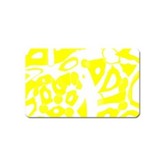 Yellow Sunny Design Magnet (name Card) by Valentinaart