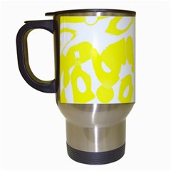 Yellow Sunny Design Travel Mugs (white) by Valentinaart