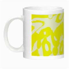 Yellow Sunny Design Night Luminous Mugs by Valentinaart