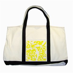 Yellow Sunny Design Two Tone Tote Bag by Valentinaart