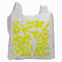 Yellow Sunny Design Recycle Bag (two Side)  by Valentinaart