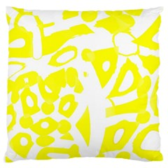 Yellow Sunny Design Large Cushion Case (two Sides) by Valentinaart