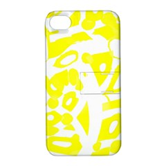 Yellow Sunny Design Apple Iphone 4/4s Hardshell Case With Stand by Valentinaart