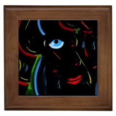 Black Magic Woman Framed Tiles by Valentinaart