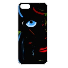 Black Magic Woman Apple Iphone 5 Seamless Case (white) by Valentinaart