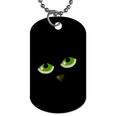 Halloween   Back Cat Dog Tag (two Sides) by Valentinaart