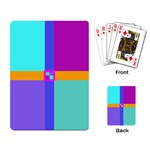 Right Angle Squares Stripes Cross Colored Playing Card Back
