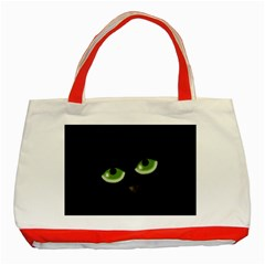 Halloween   Back Cat Classic Tote Bag (red) by Valentinaart