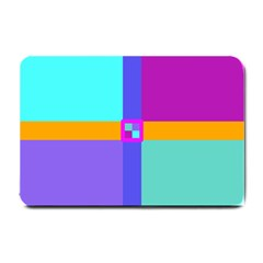 Right Angle Squares Stripes Cross Colored Small Doormat