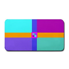 Right Angle Squares Stripes Cross Colored Medium Bar Mats