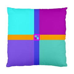 Right Angle Squares Stripes Cross Colored Standard Cushion Case (two Sides) by EDDArt
