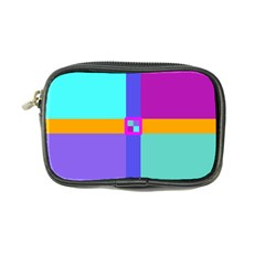Right Angle Squares Stripes Cross Colored Coin Purse by EDDArt