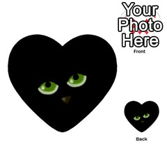 Halloween   Back Cat Multi Purpose Cards (heart)  by Valentinaart