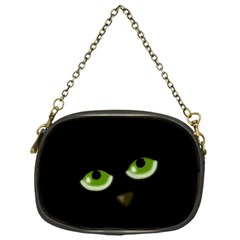 Halloween   Back Cat Chain Purses (one Side)  by Valentinaart
