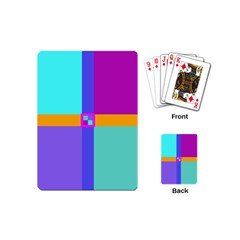 Right Angle Squares Stripes Cross Colored Playing Cards (mini)  by EDDArt