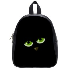 Halloween   Back Cat School Bags (small)  by Valentinaart