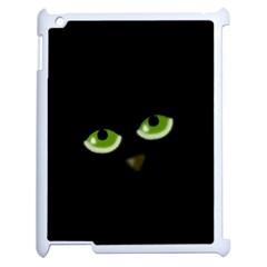 Halloween   Back Cat Apple Ipad 2 Case (white) by Valentinaart