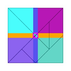 Right Angle Squares Stripes Cross Colored Acrylic Tangram Puzzle (6  X 6 ) by EDDArt