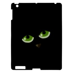 Halloween   Back Cat Apple Ipad 3/4 Hardshell Case by Valentinaart