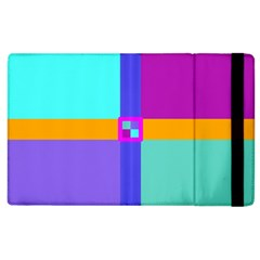 Right Angle Squares Stripes Cross Colored Apple Ipad 2 Flip Case by EDDArt