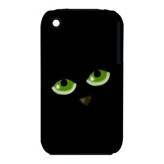 Halloween   Back Cat Apple Iphone 3g/3gs Hardshell Case (pc+silicone) by Valentinaart