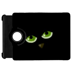 Halloween   Back Cat Kindle Fire Hd Flip 360 Case by Valentinaart