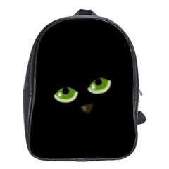 Halloween   Back Cat School Bags (xl)  by Valentinaart